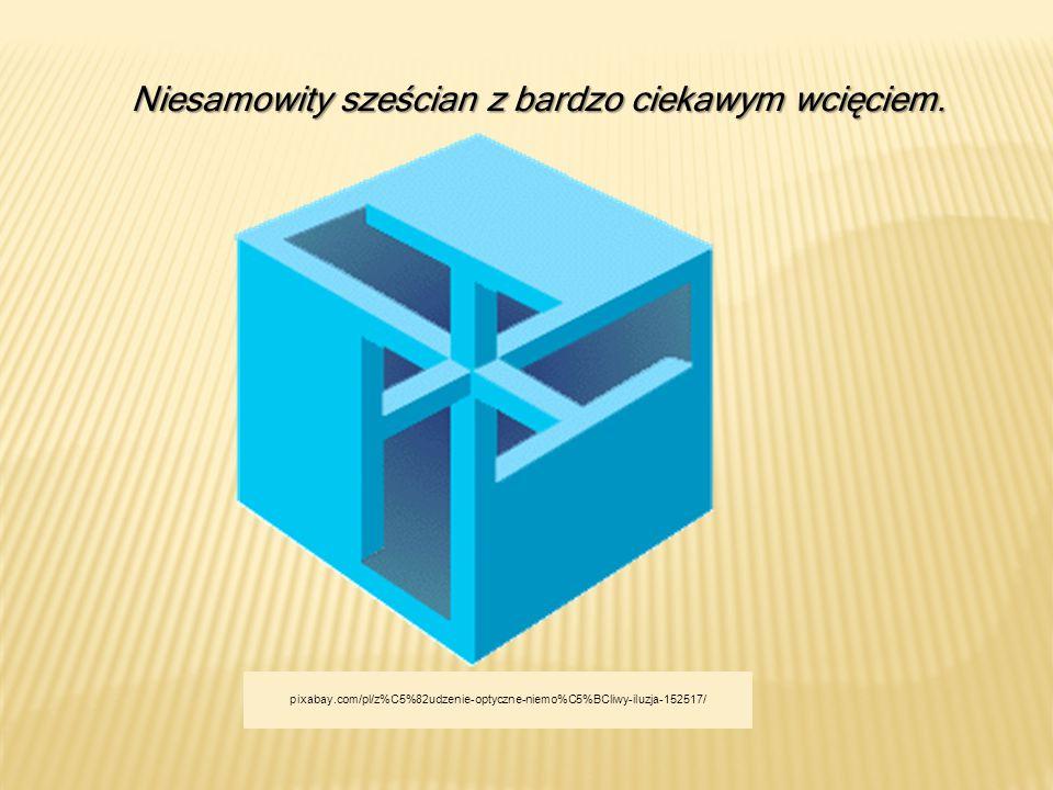 Niesamowity sześcian z bardzo ciekawym wcięciem. pixabay.com/pl/z%C5%82udzenie-optyczne-niemo%C5%BCliwy-iluzja-152517/