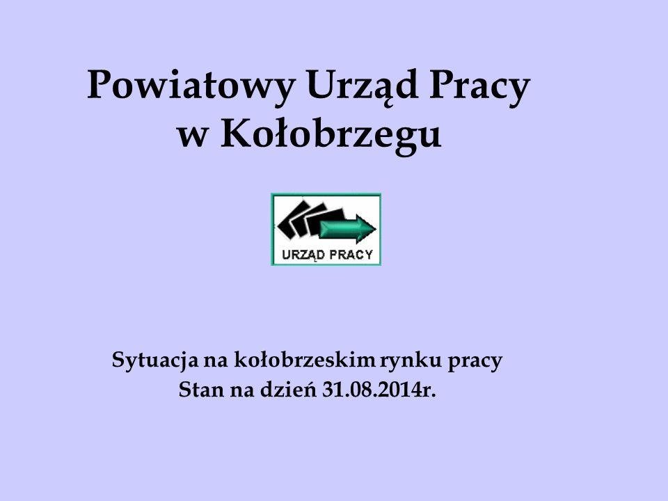 Powiatowy Urząd Pracy w Kołobrzegu Sytuacja na kołobrzeskim rynku pracy Stan na dzień 31.08.2014r.