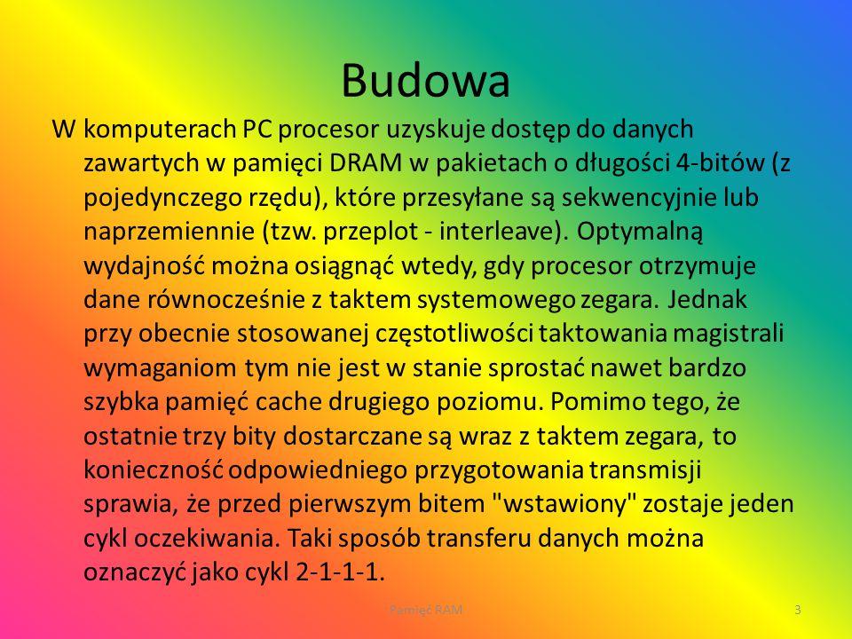 14Pamięć RAM Wykonali: Mateusz Zubowski, Aleksander Hasny.