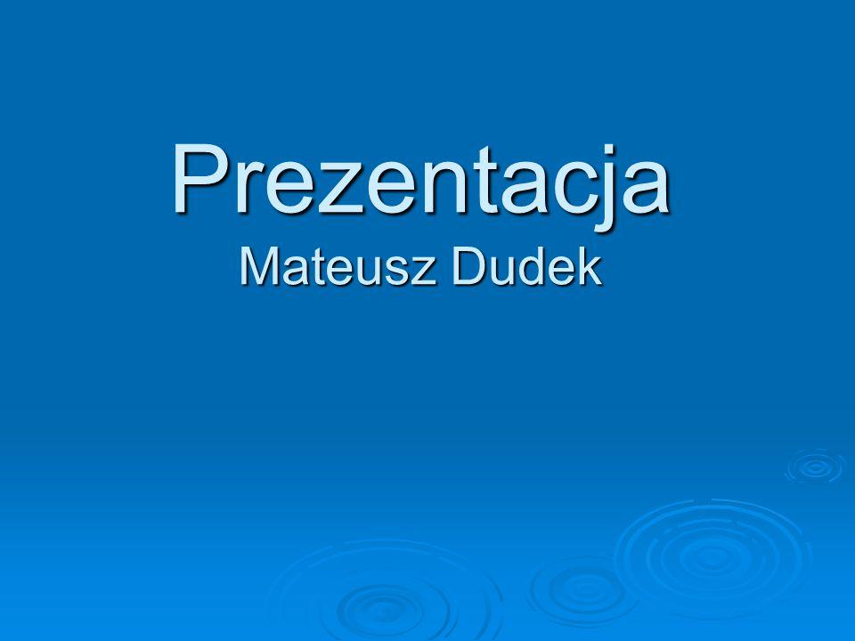 Prezentacja Mateusz Dudek