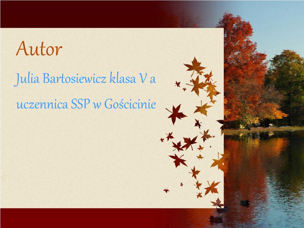 Autor Julia Bartosiewicz klasa V a uczennica SSP w Gościcinie
