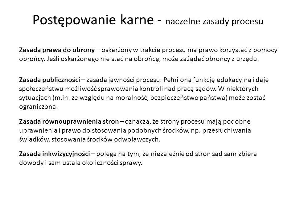 Postępowanie karne – etapy procesu 1.