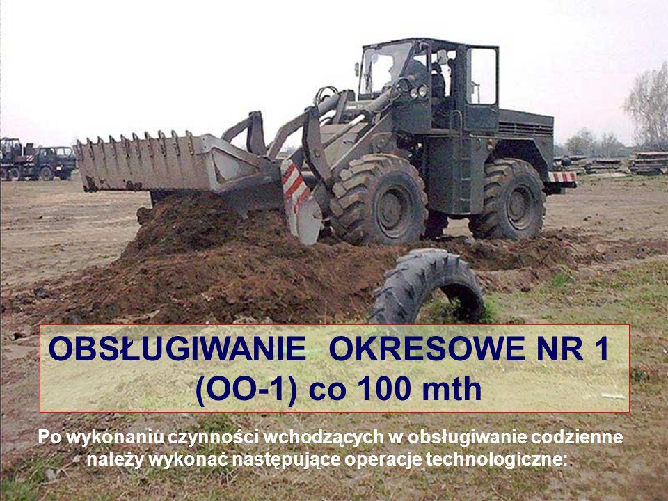 OBSŁUGIWANIE OKRESOWE NR 1 (OO-1) co 100 mth Po wykonaniu czynności wchodzących w obsługiwanie codzienne należy wykonać następujące operacje technologiczne:.