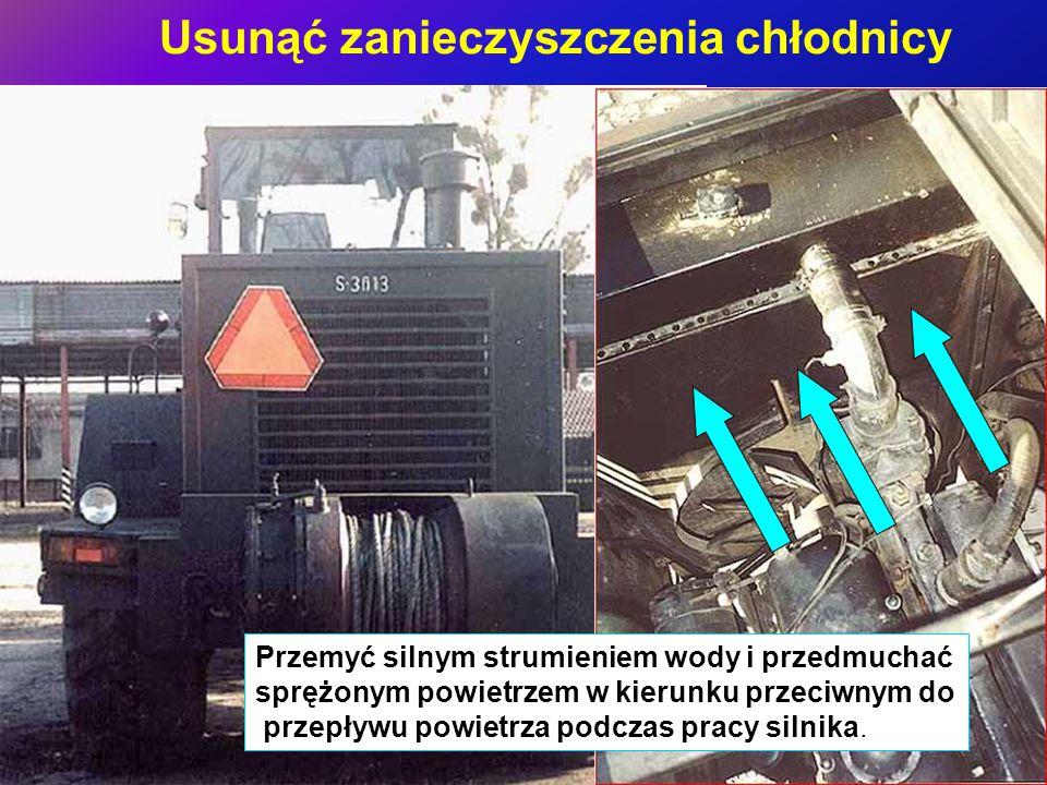 Sprawdzić instalację hydrauliczną Sł-34 Nie dopuszcza się wycieków oleju hydraulicznego z uszczelnień cylindrów hydraulicznych i połączeń przewodów.