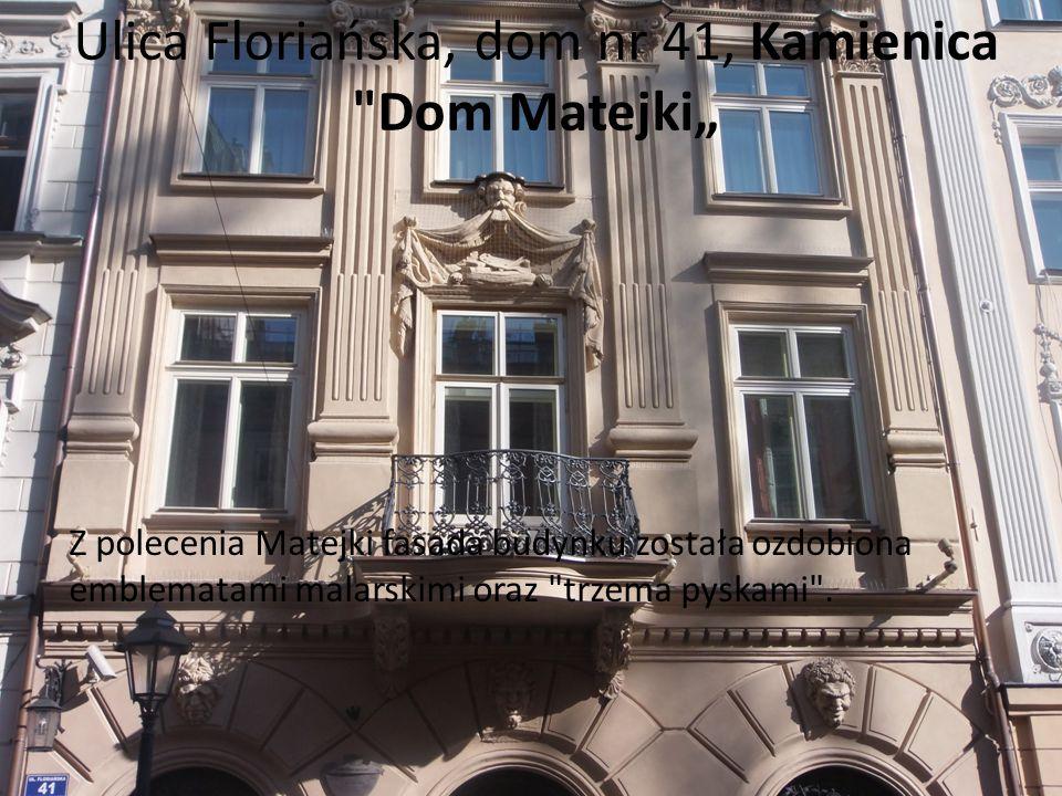 Ulica Floriańska, dom nr 41, Kamienica