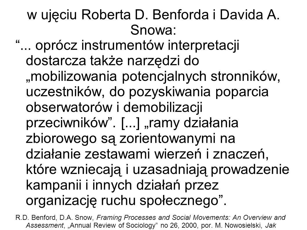 w ujęciu Roberta D. Benforda i Davida A. Snowa: ...