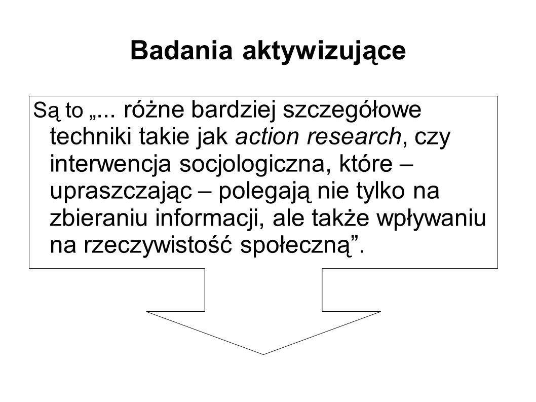 """Badania aktywizujące Są to """"..."""