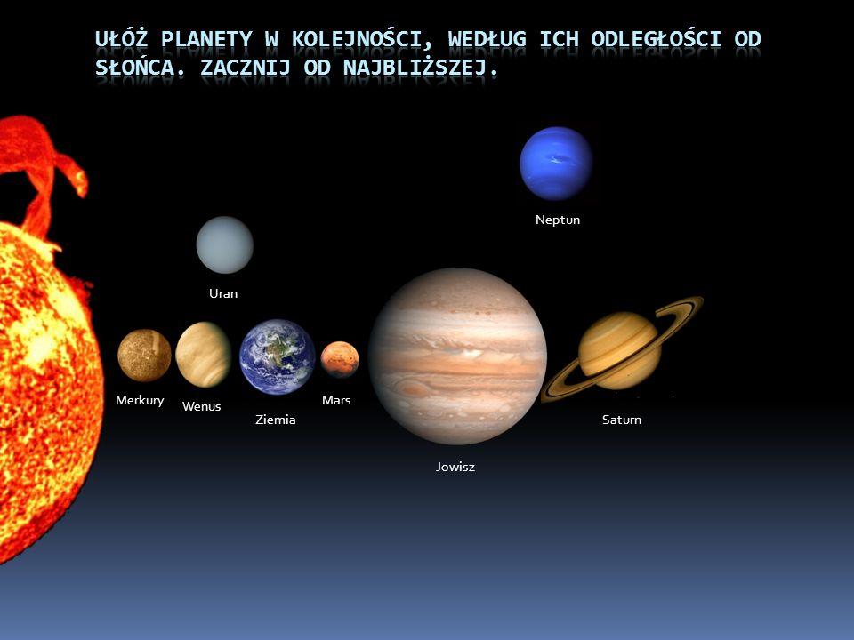 Merkury Wenus Ziemia Mars Jowisz Saturn Uran Neptun