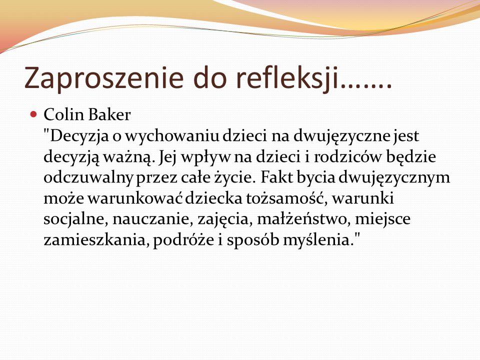 Zaproszenie do refleksji……. Colin Baker