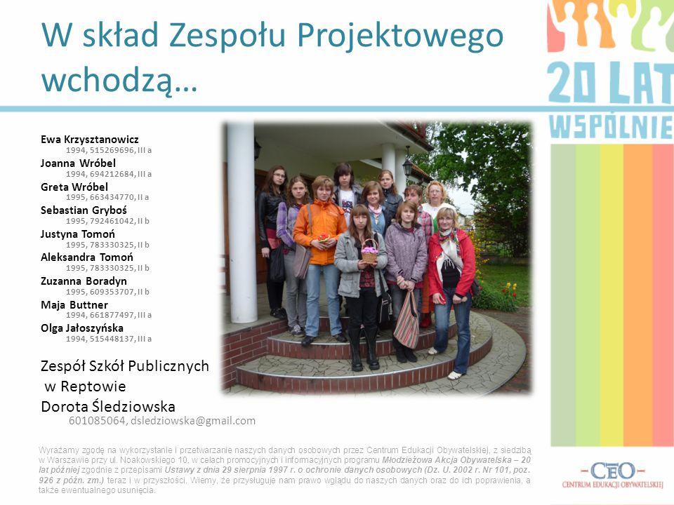 Ewa Krzysztanowicz 1994, 515269696, III a Joanna Wróbel 1994, 694212684, III a Greta Wróbel 1995, 663434770, II a Sebastian Gryboś 1995, 792461042, II