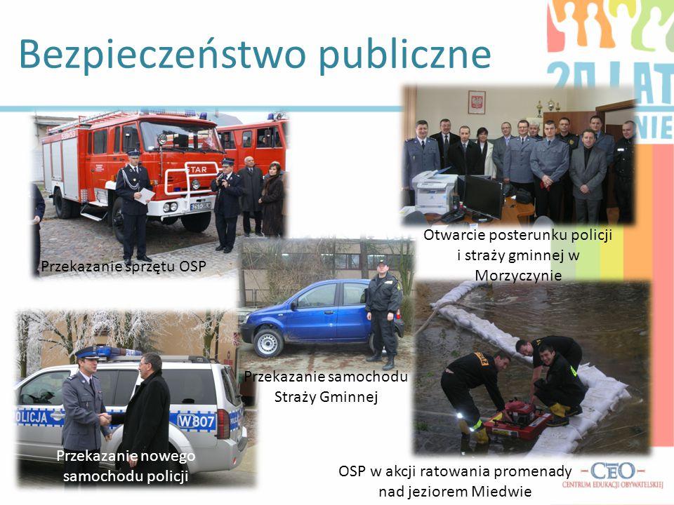 Bezpieczeństwo publiczne Przekazanie sprzętu OSP Przekazanie samochodu Straży Gminnej Przekazanie nowego samochodu policji Otwarcie posterunku policji