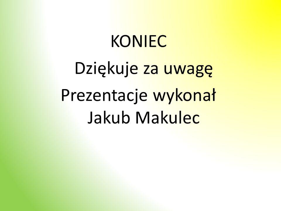 KONIEC Dziękuje za uwagę Prezentacje wykonał Jakub Makulec