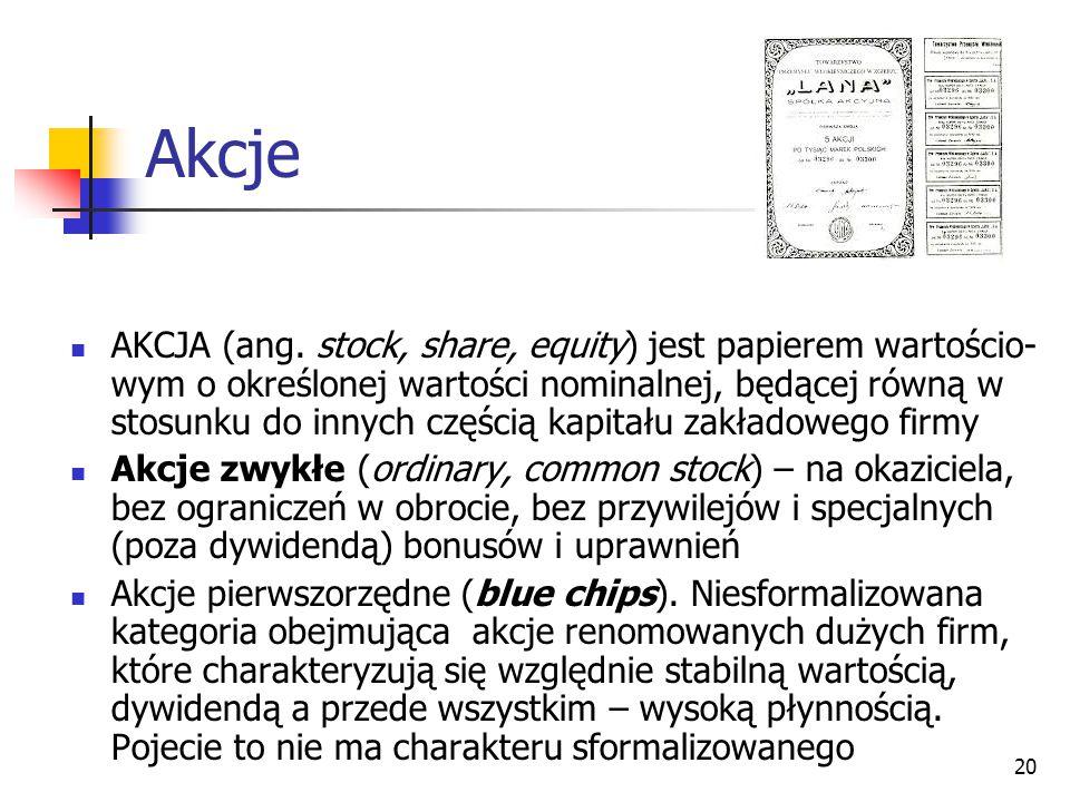 20 Akcje AKCJA (ang.