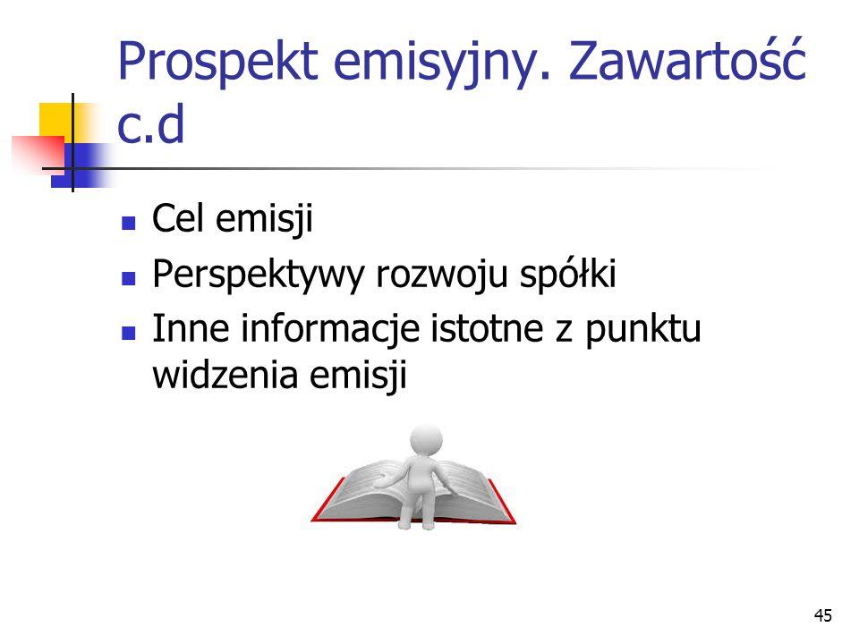 Prospekt emisyjny.