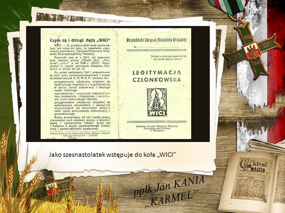 """ppłk Jan KANIA """"KARMEL 5 pułk Strzelców Podhalańskich"""