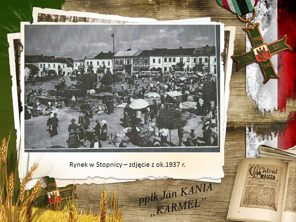 """ppłk Jan KANIA """"KARMEL Rynek w Stopnicy – zdjęcie z ok.1937 r."""