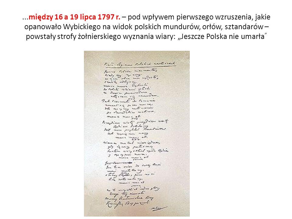 Wersja oryginalna Wybickiego Jeszcze Polska nie umarła, kiedy my żyjemy.