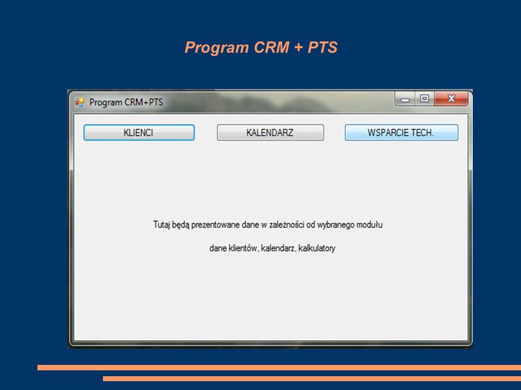 Program CRM + PTS