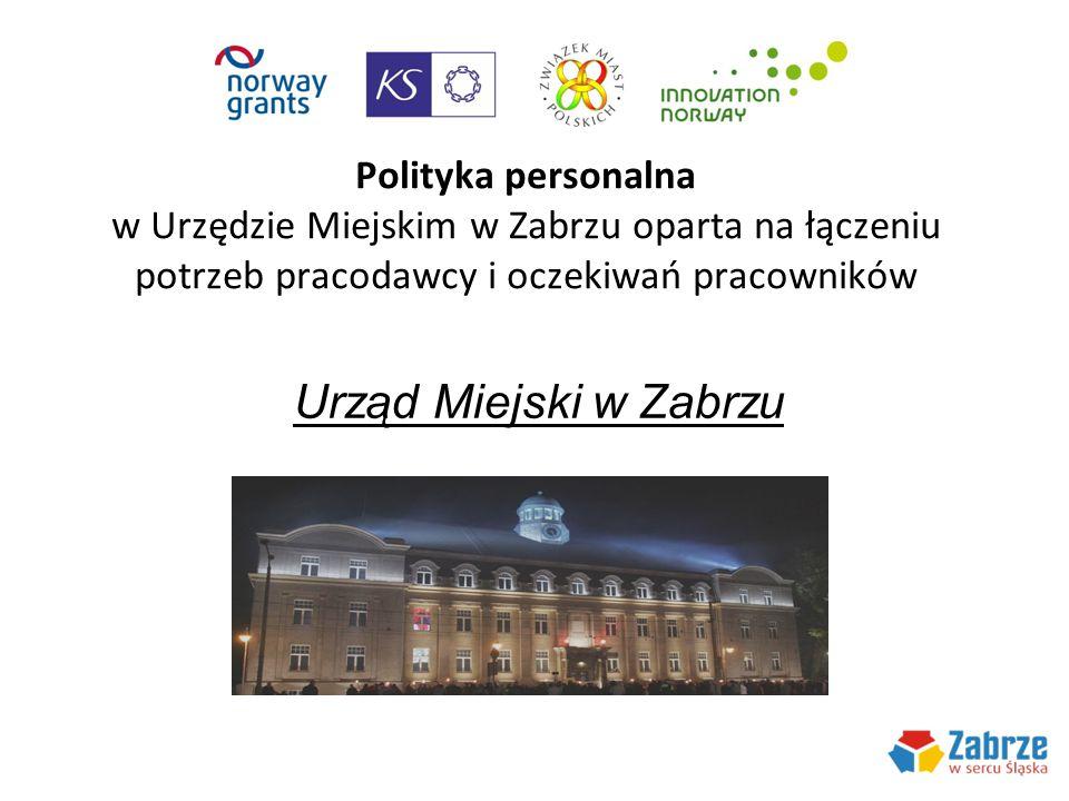 Polityka personalna w Urzędzie Miejskim w Zabrzu oparta na łączeniu potrzeb pracodawcy i oczekiwań pracowników Urząd Miejski w Zabrzu