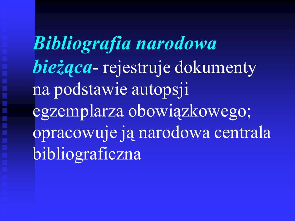 Budowa opisu bibliograficznego płyty CD- ROM: Autor/redaktor.