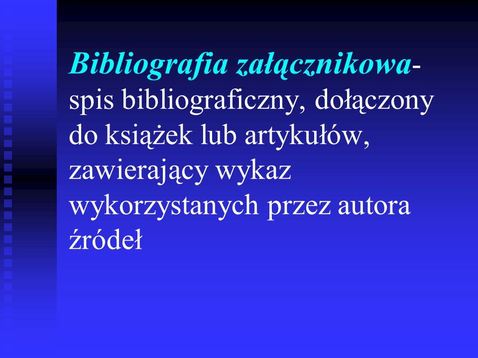 Budowa opisu bibliograficznego artykułu z czasopisma: Autor artykułu.