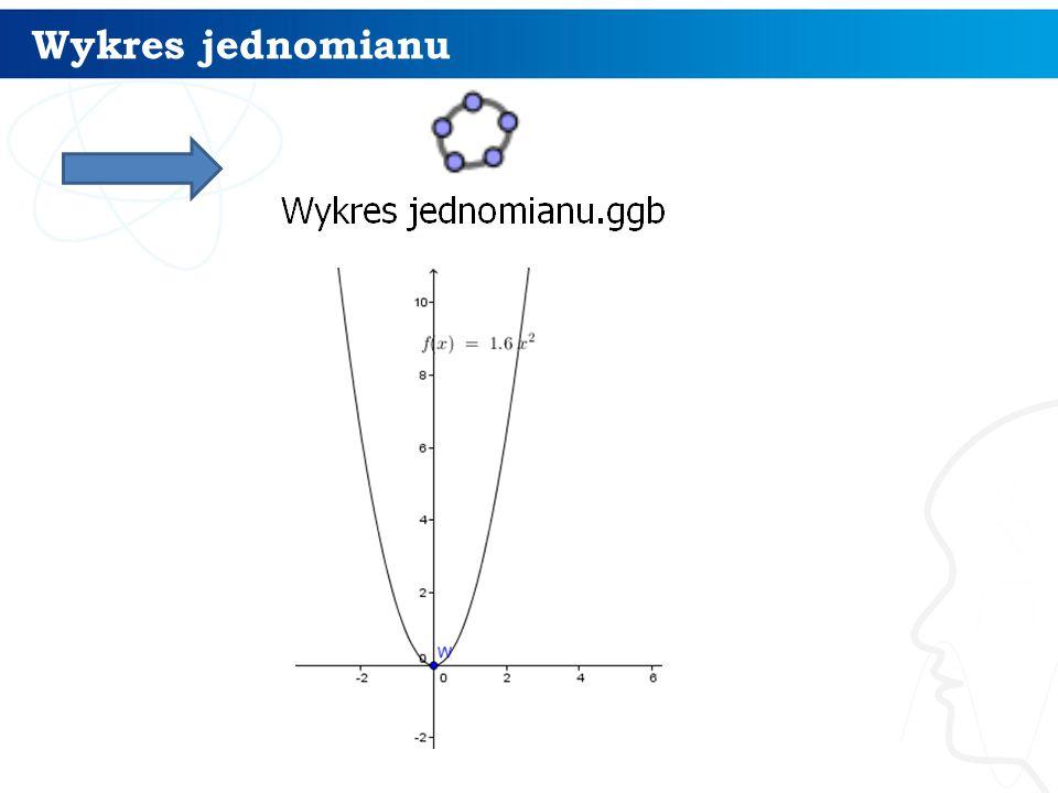 Wykres jednomianu 4