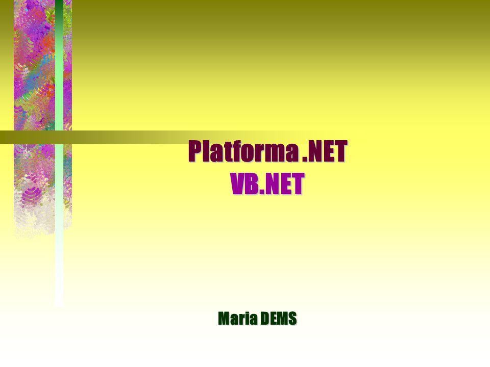 Platforma.NET VB.NET Maria DEMS