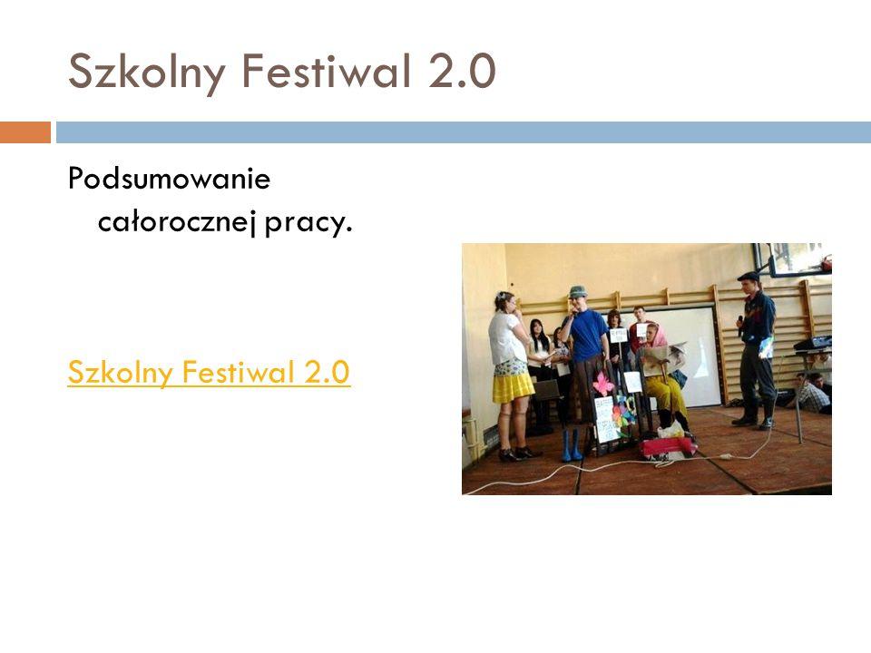Szkolny Festiwal 2.0 Podsumowanie całorocznej pracy. Szkolny Festiwal 2.0