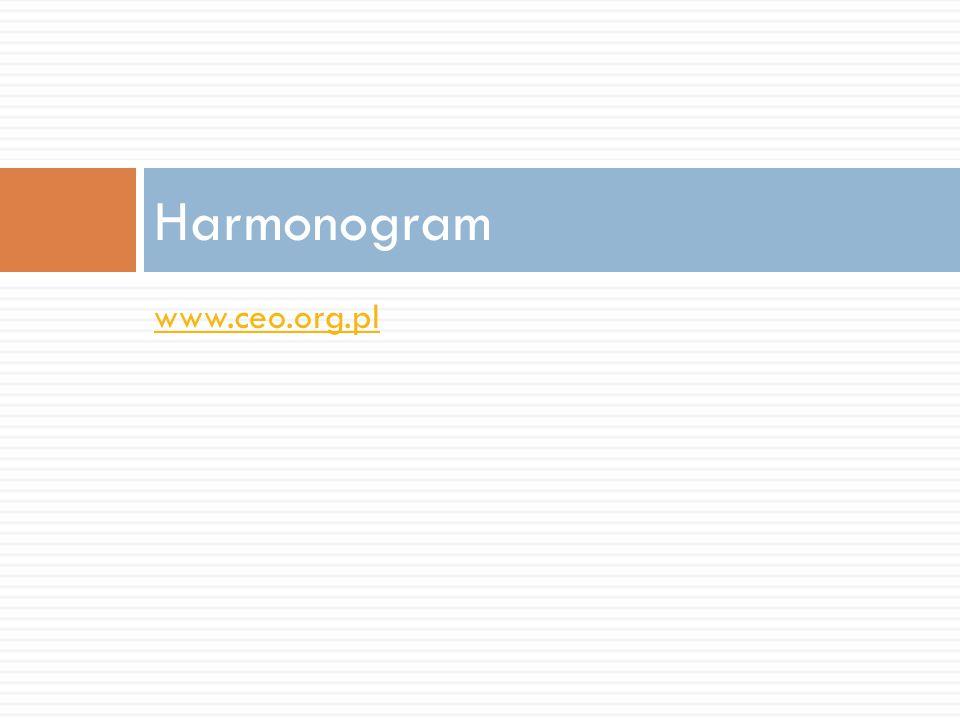 www.ceo.org.pl Harmonogram