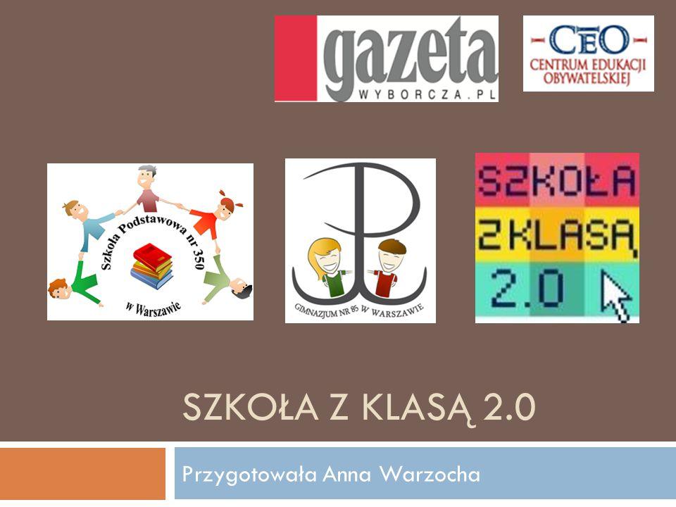SZKOŁA Z KLASĄ 2.0 Przygotowała Anna Warzocha
