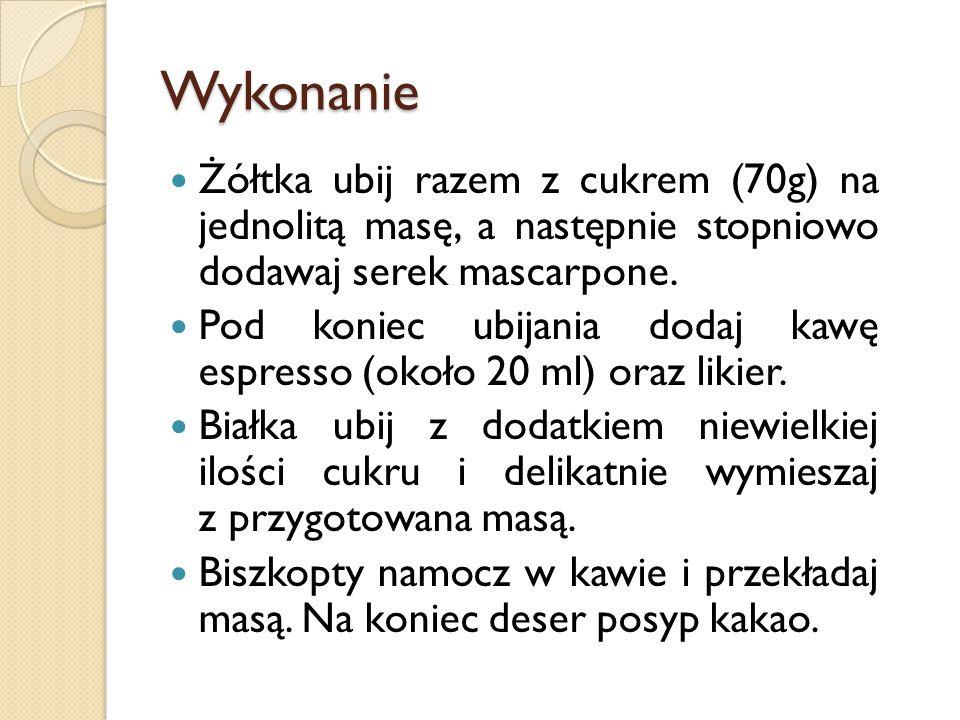 Receptura po uzdrowieniu: Kremówka 0,5l (1545) kcal Jajka 268kcal Cukier puder 0,80 g (320kcal) Biszkopty 0,150kg(546 kcal) Kawa espresso 0,250kg( 42,5kcal) Kakao 0,010kg (34kcal) RAZEM: 2755.5 kcal na 10 osób na jedną osobę: 275,55 kcal
