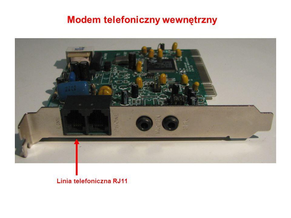 Modem telefoniczny wewnętrzny Linia telefoniczna RJ11