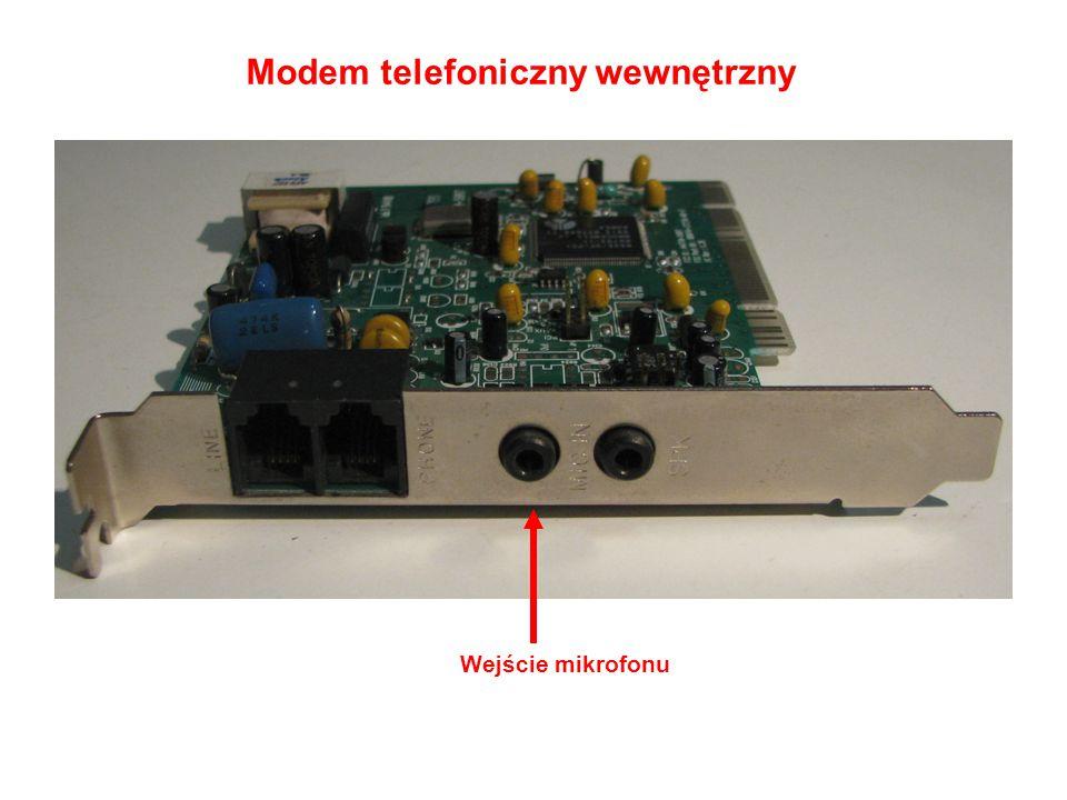 Modem telefoniczny wewnętrzny Wejście mikrofonu