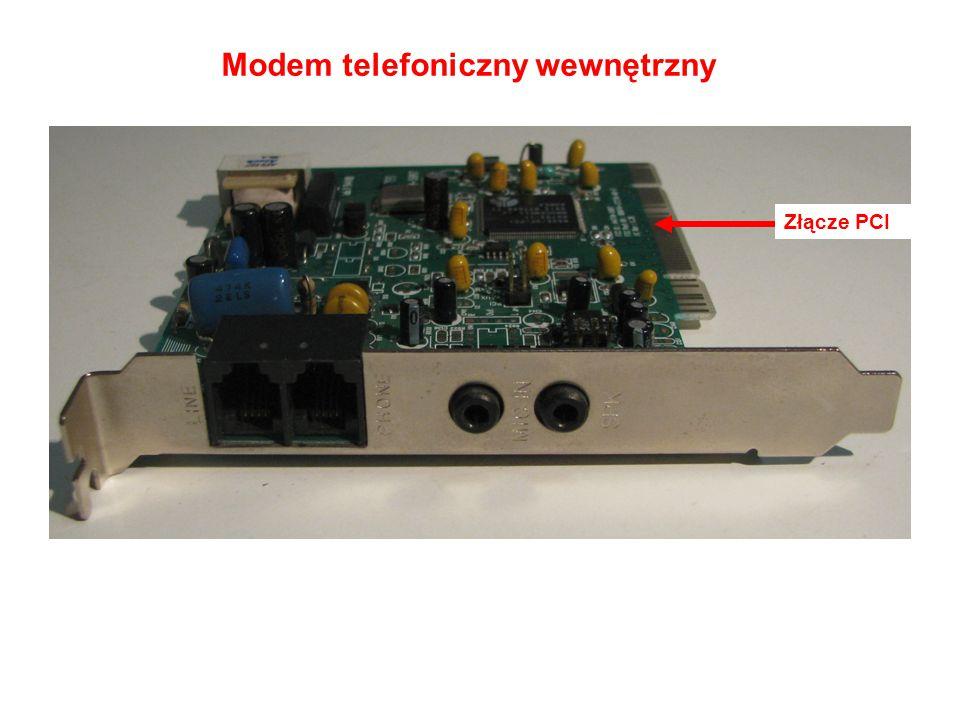 Modem telefoniczny wewnętrzny Złącze PCI