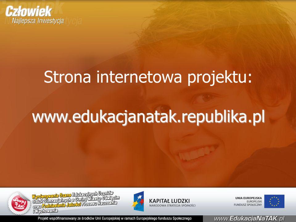 Strona internetowa projektu:www.edukacjanatak.republika.pl
