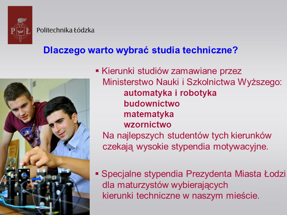 Dlaczego warto wybrać studia techniczne.