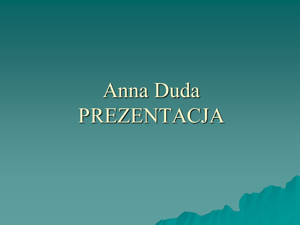 Anna Duda PREZENTACJA