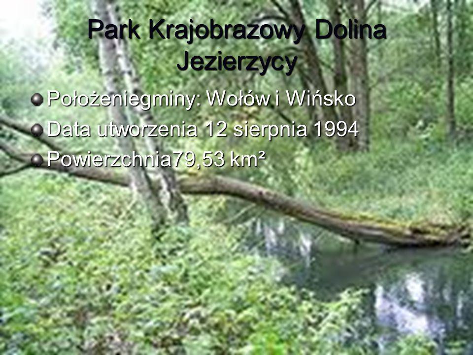 Park Krajobrazowy Dolina Jezierzycy Położeniegminy: Wołów i Wińsko Data utworzenia 12 sierpnia 1994 Powierzchnia79,53 km²