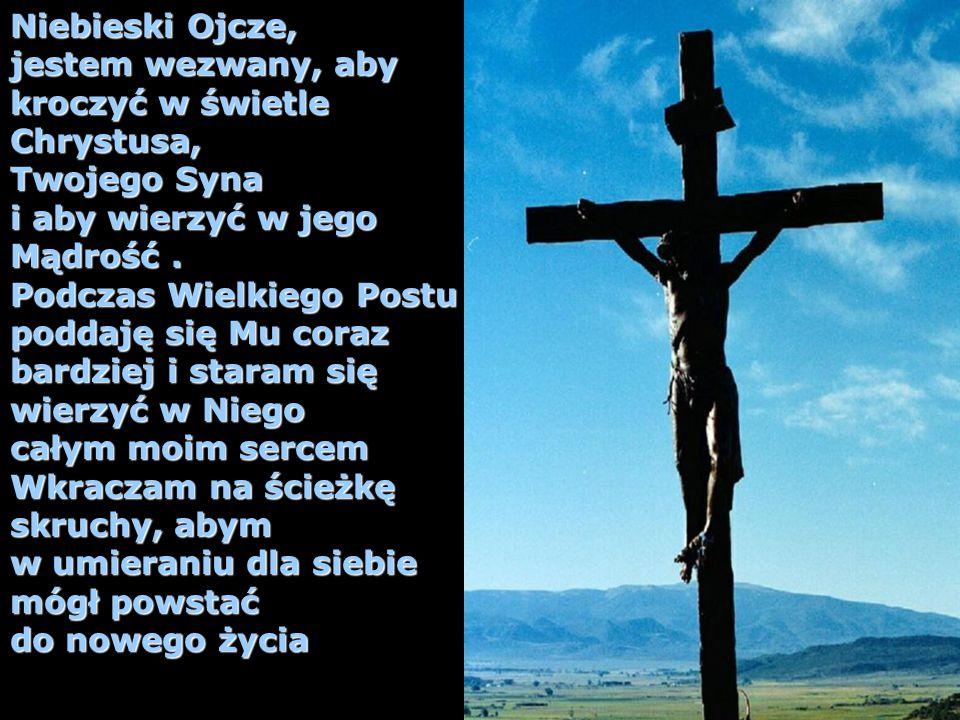 Niebieski Ojcze, jestem wezwany, aby kroczyć w świetle Chrystusa, Twojego Syna i aby wierzyć w jego Mądrość. Podczas Wielkiego Postu poddaję się Mu co