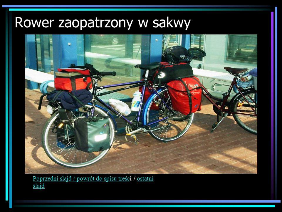 Rower zaopatrzony w sakwy Poprzedni slajd / powrót do spisu treścPoprzedni slajd / powrót do spisu treści / ostatni slajdostatni slajd