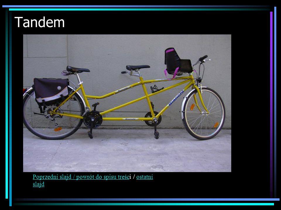 Tandem Poprzedni slajd / powrót do spisu treścPoprzedni slajd / powrót do spisu treści / ostatni slajdostatni slajd