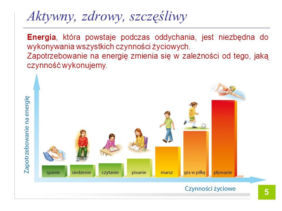 2 Aktywny, zdrowy, szczęśliwy Energia, która powstaje podczas oddychania, jest niezbędna do wykonywania wszystkich czynności życiowych.