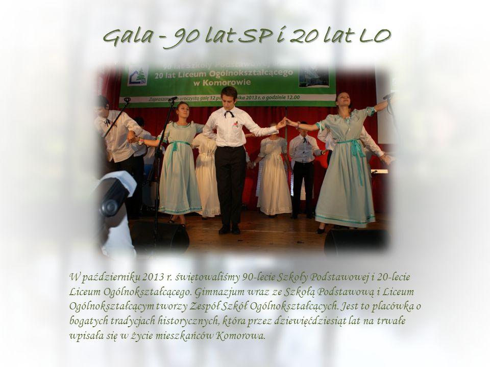 Gala - 90 lat SP i 20 lat LO W październiku 2013 r. świętowaliśmy 90-lecie Szkoły Podstawowej i 20-lecie Liceum Ogólnokształcącego. Gimnazjum wraz ze