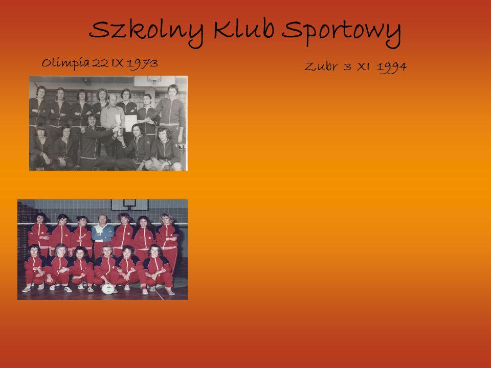 Szkolny Klub Sportowy Olimpia 22 IX 1973 Zubr 3 XI 1994