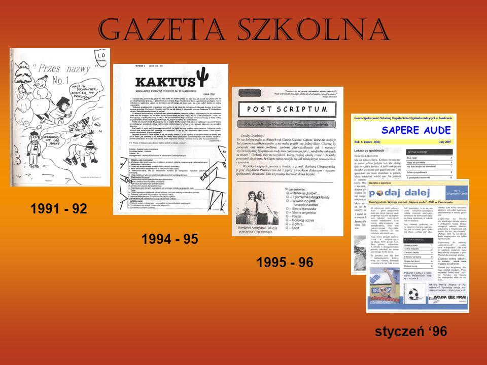 1991 - 92 1994 - 95 1995 - 96 styczeń '96