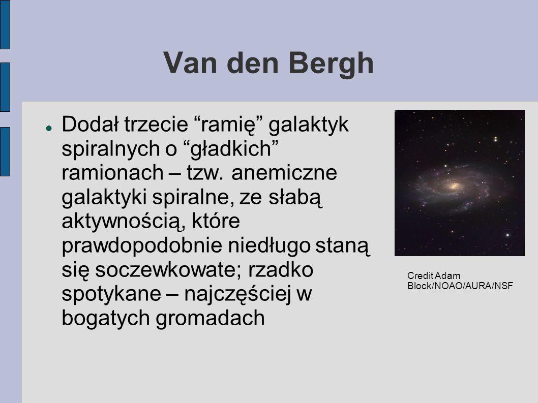 Van den Bergh Dodał trzecie ramię galaktyk spiralnych o gładkich ramionach – tzw.