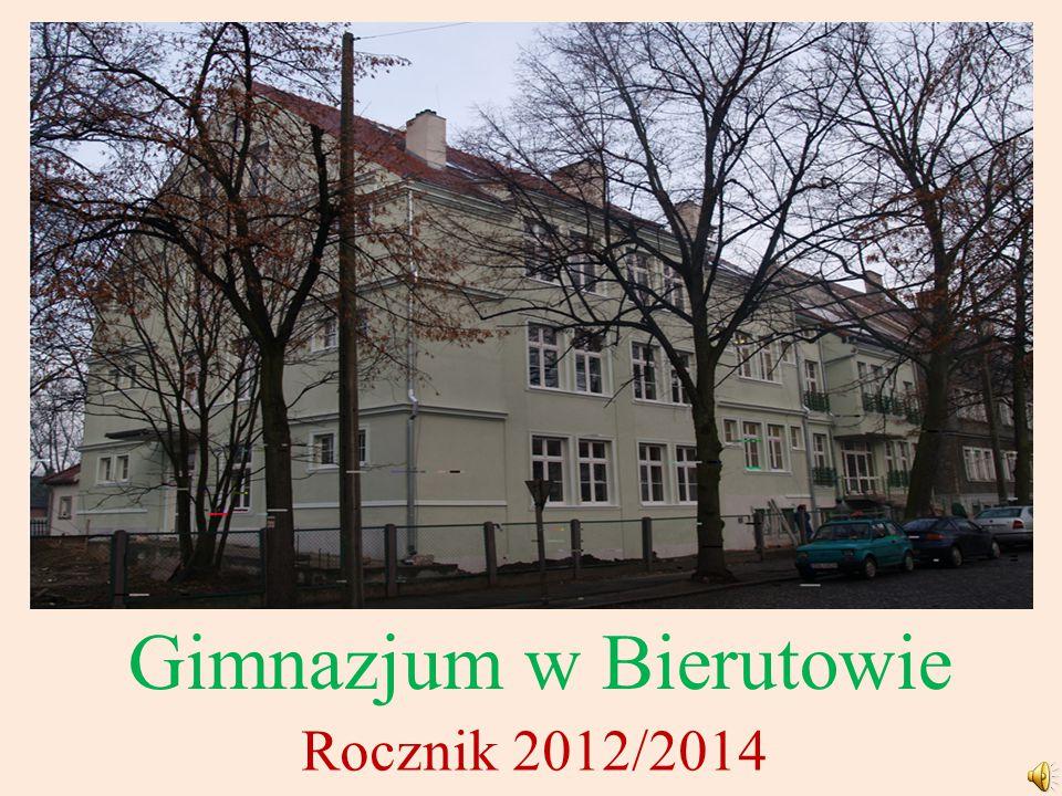 Gimnazjum w Bierutowie Rocznik 2012/2014