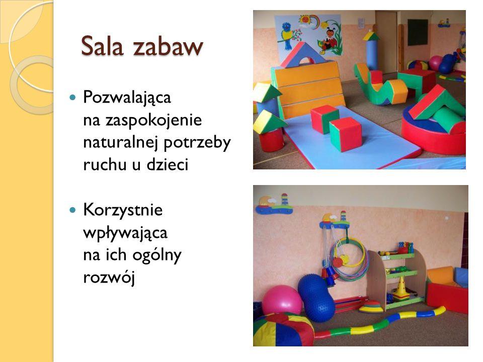 Sala zabaw Pozwalająca na zaspokojenie naturalnej potrzeby ruchu u dzieci Korzystnie wpływająca na ich ogólny rozwój