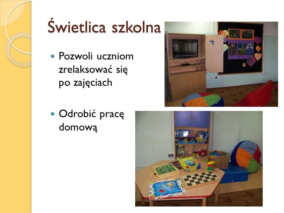 Świetlica szkolna Pozwoli uczniom zrelaksować się po zajęciach Odrobić pracę domową