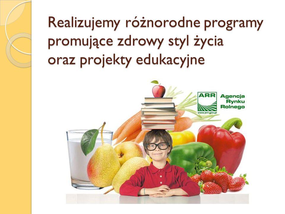 Realizujemy różnorodne programy promujące zdrowy styl życia oraz projekty edukacyjne